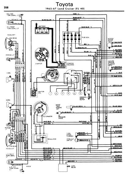 repairmanuals: Toyota Land Cruiser 196567 Wiring Diagrams