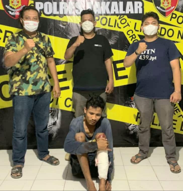 Personel Resmob Polres Takalar Bekuk DPO Pencurian Dengan Kekerasan
