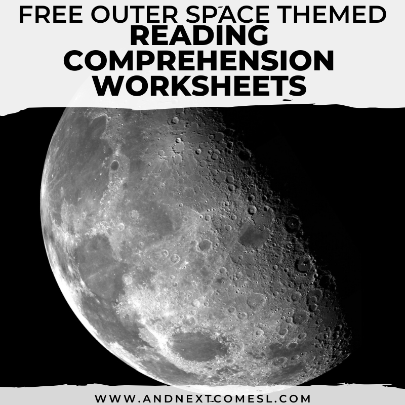 Free Outer Space Reading Comprehension Worksheets And Next Comes L -  Hyperlexia Resources