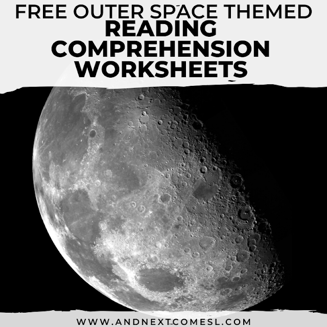 Free printable worksheets on reading comprehension about outer space