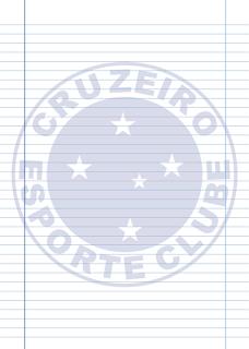 Papel Pautado do Cruzeiro PDF para imprimir na folha A4