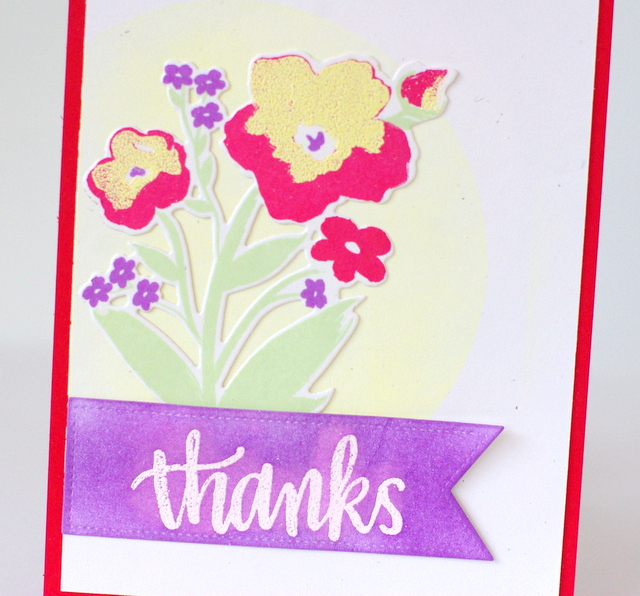 Fusion Challenge Purple & Poppies Leigh Penner @leigh148 #cards #sharehandmadekindness