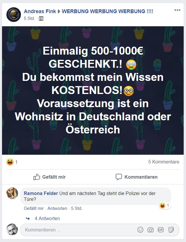 Einmalig 500-1000€ GESCHENKT.! 🤑 Du bekommst mein Wissen KOSTENLOS!🤓 Voraussetzung ist ein Wohnsitz in Deutschland oder Österreich
