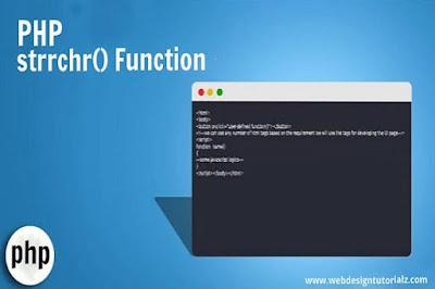 PHP strrchr() Function
