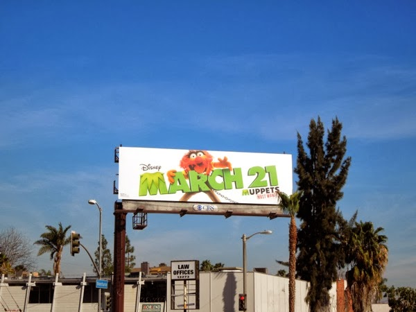 Animal Muppets Most Wanted movie billboard