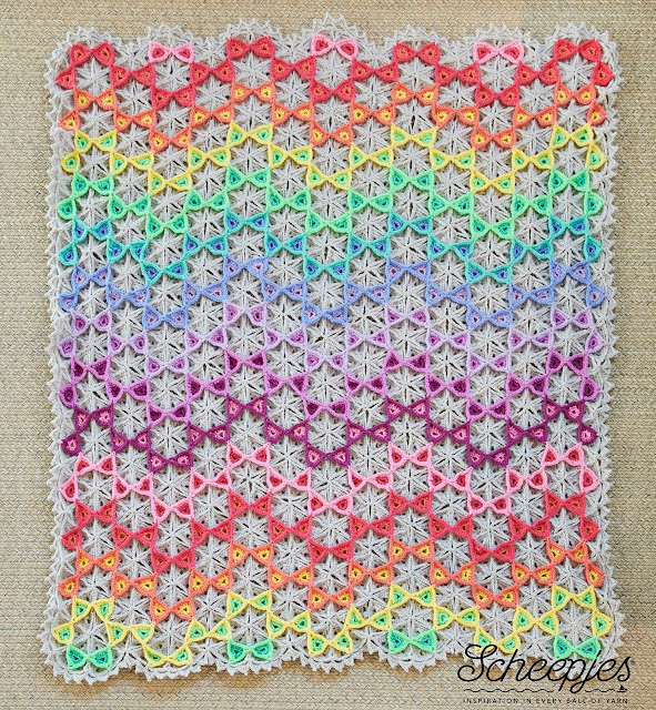 Prism Blanket MAL hosted by Scheepjes (crochet pattern designed by Susan Carlson of Felted Button