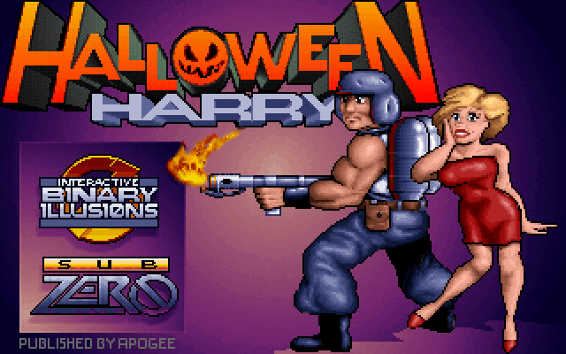 Halloween Harry MS DOS title screen
