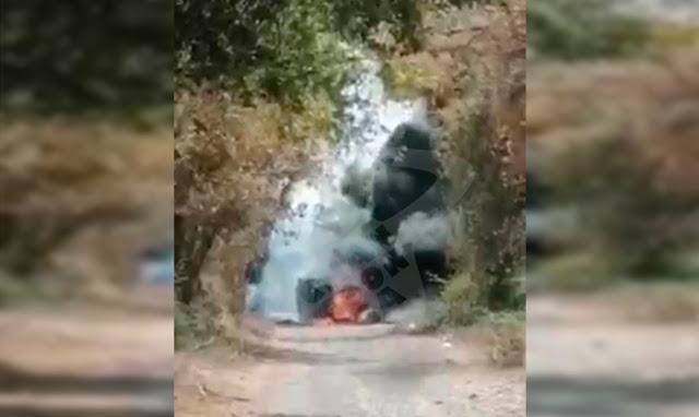 Hace unas horas El CJNG intenta ingresar a Michoacán por Tepalcatepec, pero repelen a los Sicarios  y queman camionetas en las brechas