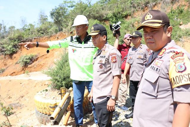 Pasca Musibah Longsor , Kapolda Sulut kunjungi Lokasi tambang di Bakan Bolmong