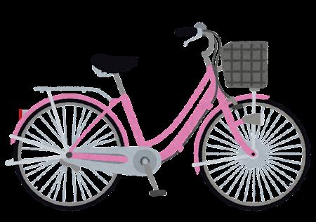 ママチャリ・シティサイクルのイラスト(自転車)