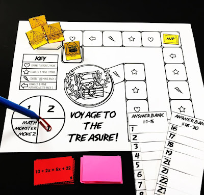 solving multi-step equations math game