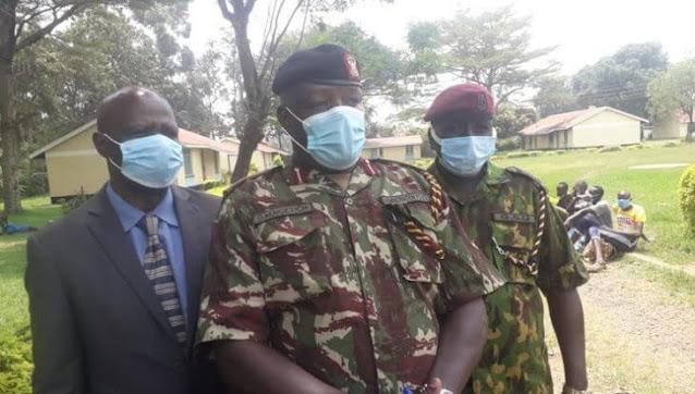 Western Police Regional Commander Dennis Ngetich at Bokoli Primary photo
