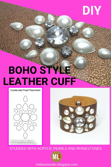 Boho style leather cuff inspiration sheet.