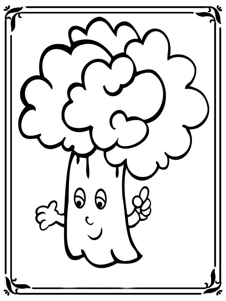 Free Printable Broccoli Coloring Pages Realistic Coloring Pages