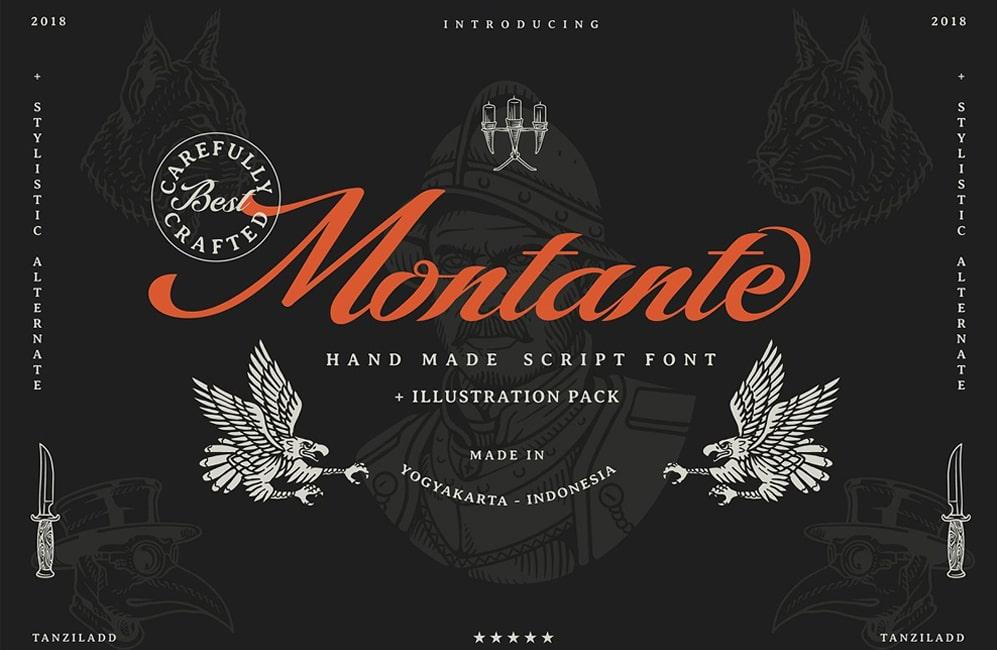 Download Montante Script Font