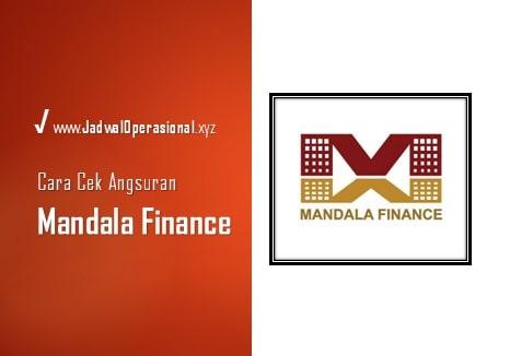 Cek Angsuran Mandala Finance