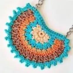 Collar Boho a Crochet