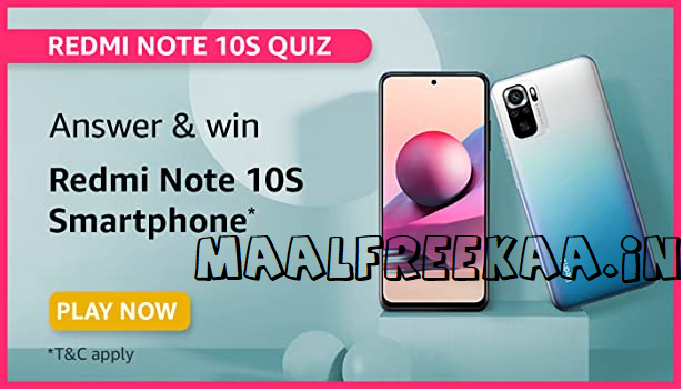 redmi note 10s get FrEE play contest