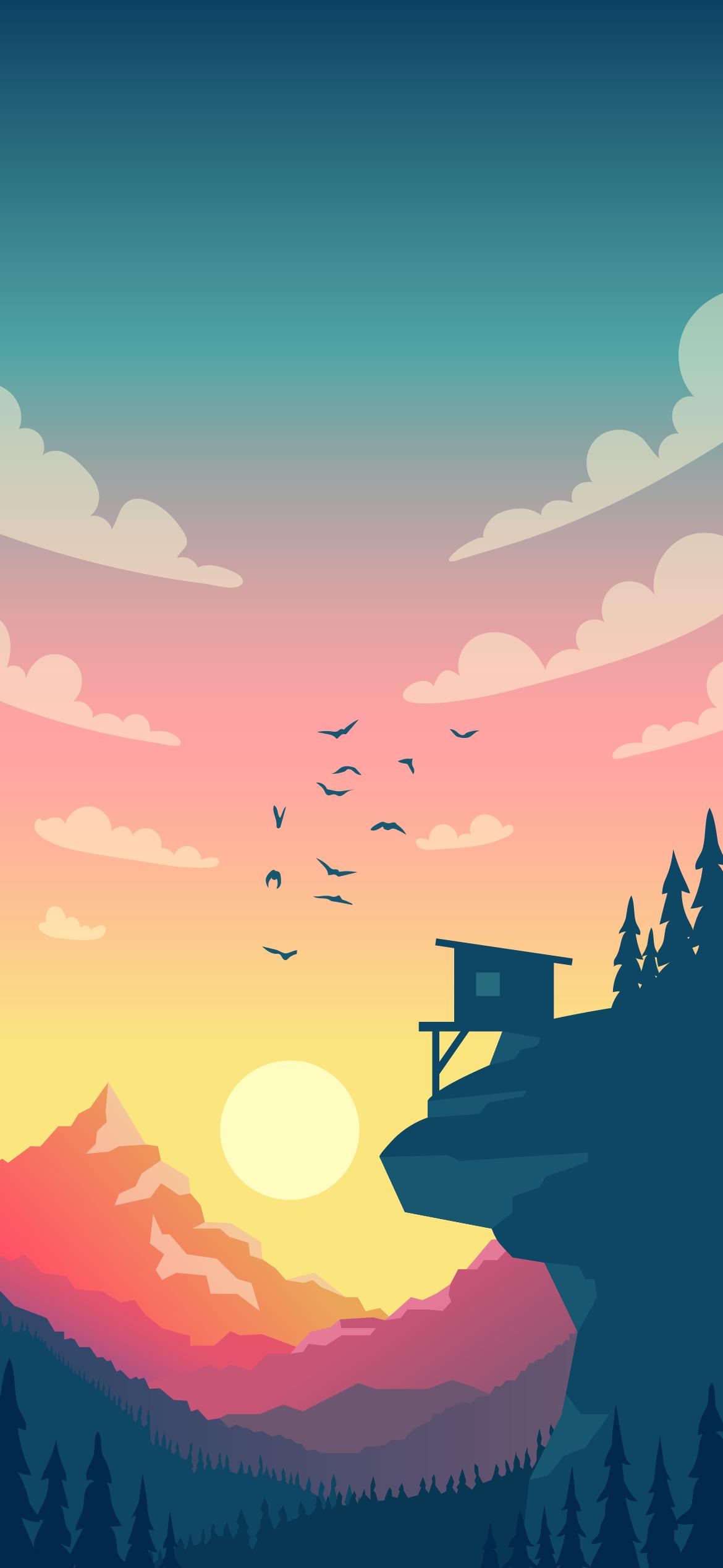 beautiful minimal landscape day heroscreen cool wallpaper 4k
