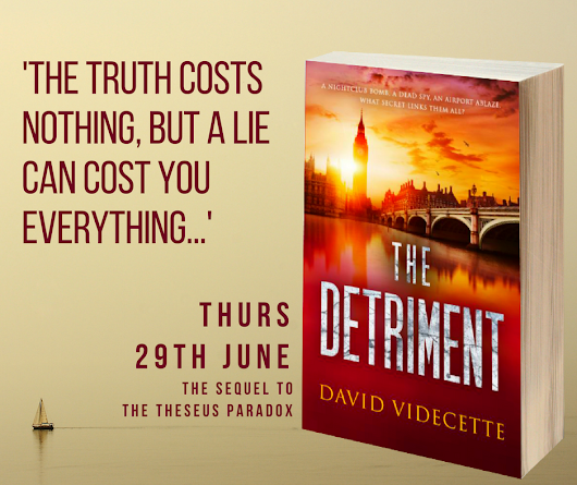 COVER REVEAL FOR THE DETRIMENT BY DAVID VIDECETTE #CoverReveal #TheDetriment