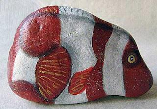 rock painting, fish, Nemo, painted rock