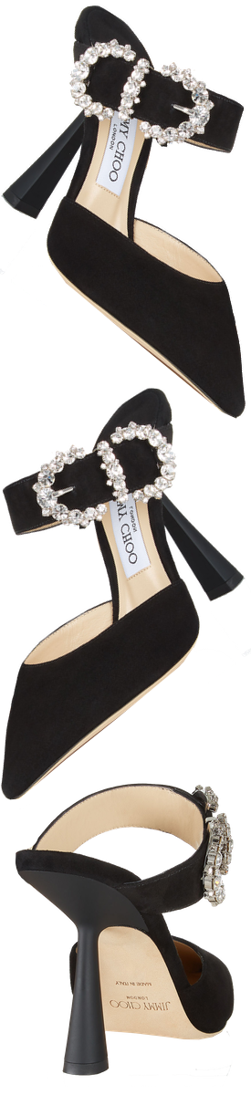 JIMMY CHOO SMOKEY 100 SANDAL IN BLACK