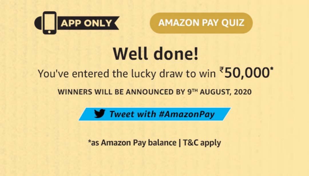 Amazon Pay Quiz Answers