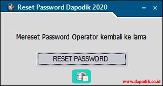 Solusi Mengatasi Password Salah Setelah Install Ulang Dapodik 2020.a Ataupun Yang Menggunakan Patch 2020.a