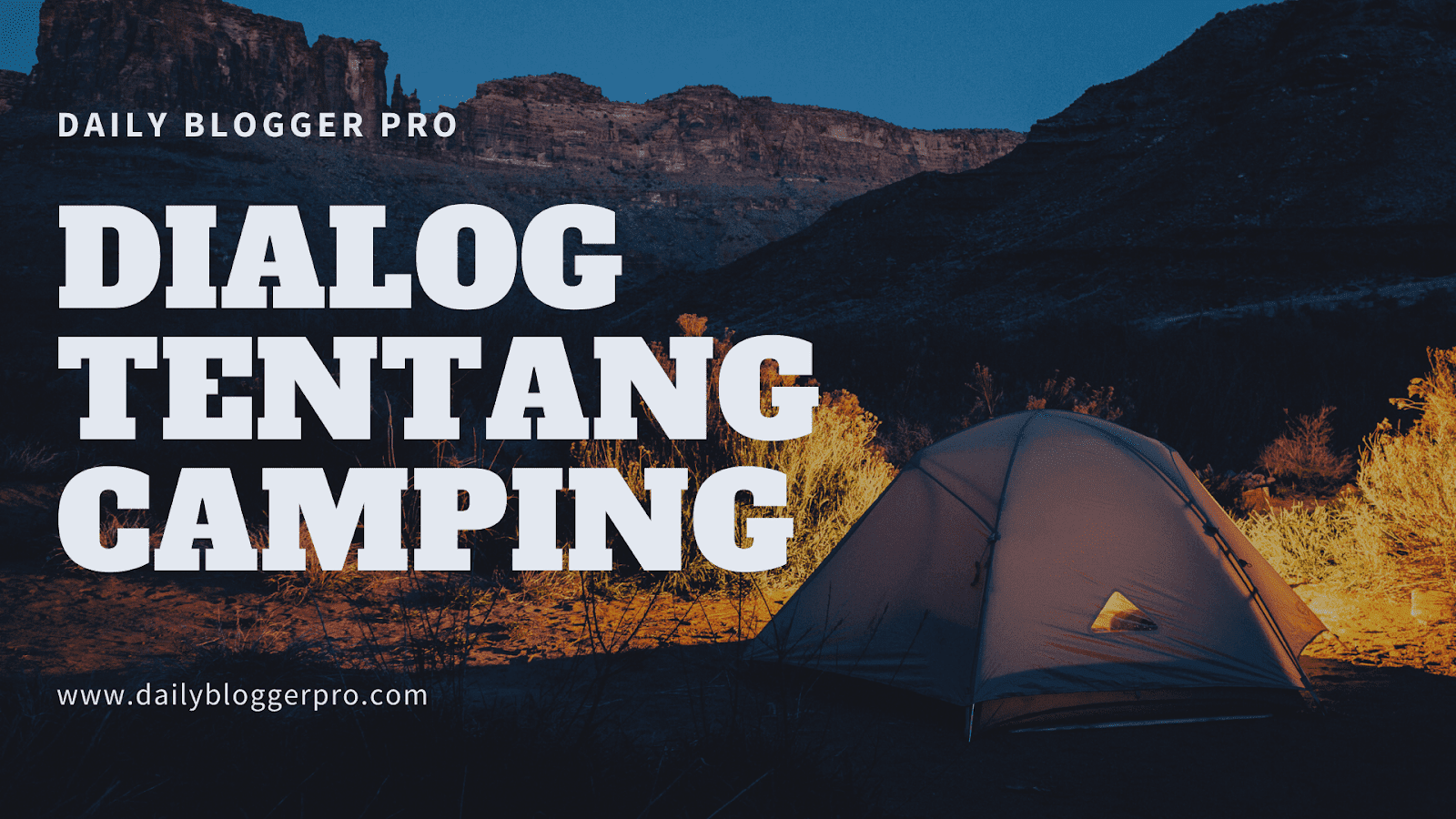 English Vocabulary, Camping, Berkemah