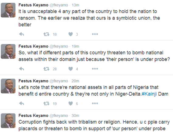 Festus Keyamo reacts to threats by Niger Delta group to bomb NNPC towers over probe of Patience Jonathan's $15M