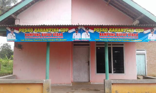 Pemerintahan Kampung Buyut Utara Serius Tangani Covid19, dan Sediakan posko karantina untuk orang dalam pemantauan (ODP)
