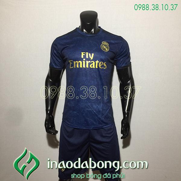 Áo bóng đá câu lạc bộ Real màu đen 2020