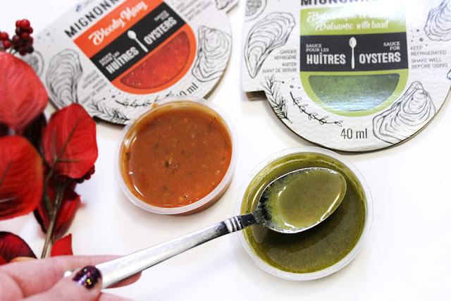 sauce pour les huîtres mignonnettes Océania