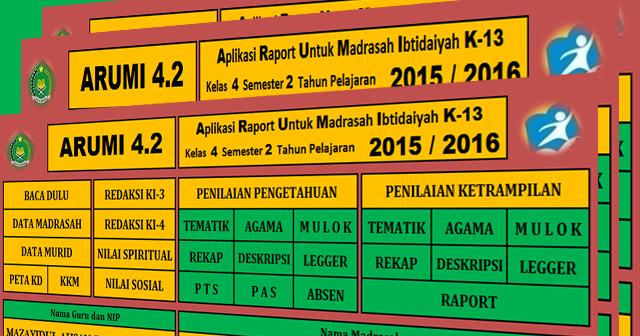 Download Aplikasi Raport Arumi Kelas 1 2 4 5 Madrasah