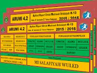 Aplikasi Raport Madrasah Ibtidaiyah Kurikulum 2013 Format Excel Terbaru
