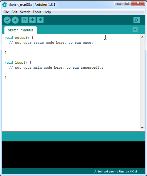 layar Arduino IDE