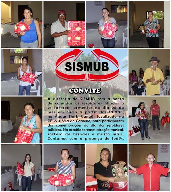 Em Buíque Sismub programa  festança no próximo dia 28 para comemorar o dia do Servidor Público Municipal