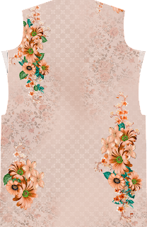 Flower Kurti Textile Design Front 2603