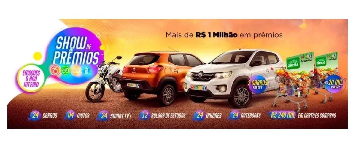 Promoção Nordestão 2020 Show Prêmios 1 Milhão - Carros, Motos e Muitos Mais