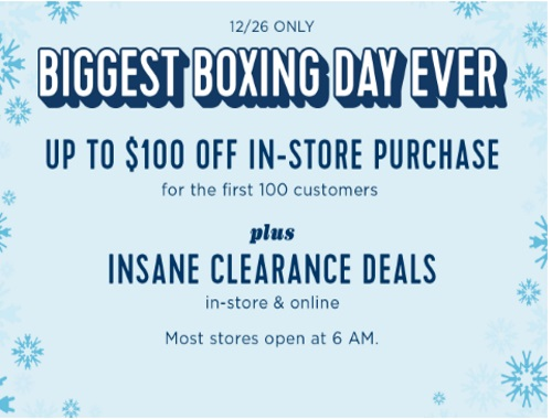 Old Navy Biggest Boxing Day Ever