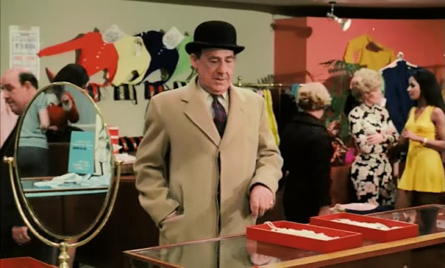 Michael Hordern in a department store in Some Will, Some Won't