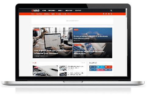 Chia sẻ miễn phí giao diện blog tin tức Gmag Premium