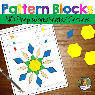 Pattern Block Pictures for Math Centers Teach Magically