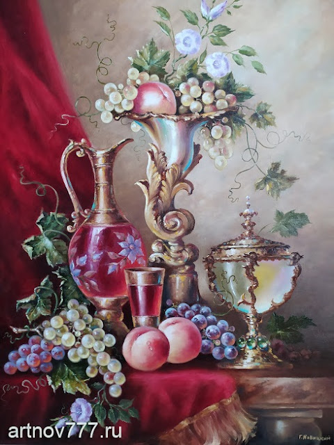 Натюрморт с вазой и кувшином