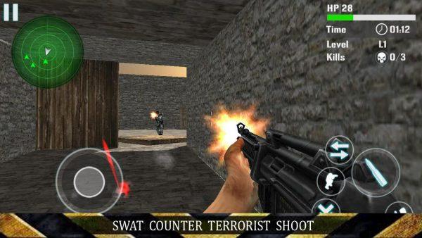 Free Download SWAT Counter Terrorist Shoot Apk Unlocked Diverse Scene