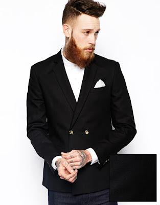 Kruvaze ceket kombini siyah