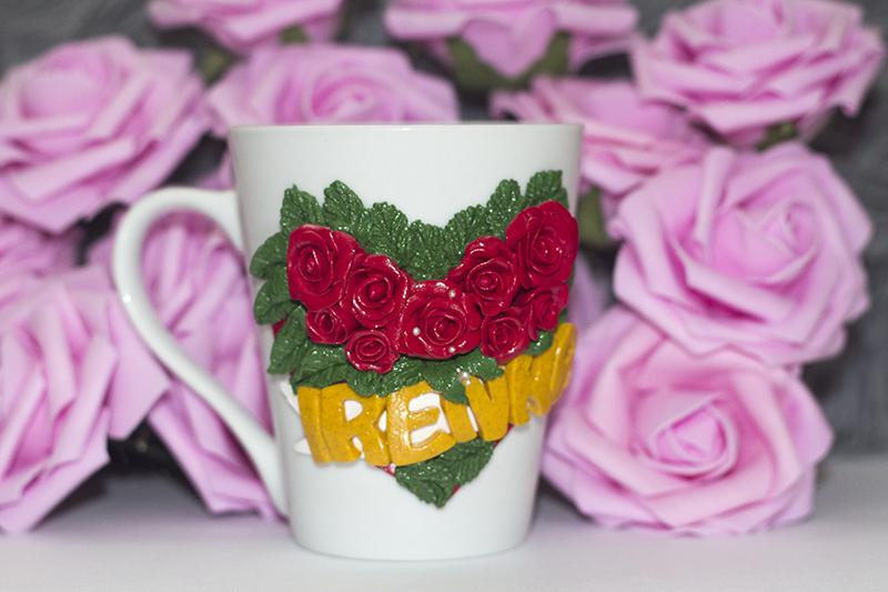 róża z modeliny