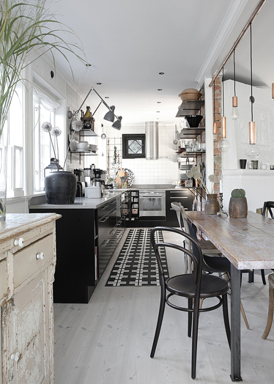 Kitchen Wall Lights Rugs And Runners Swing Arm Lamps In The My Paradissi Industrial Rustic Styles Mixed Of Asa Mycasa