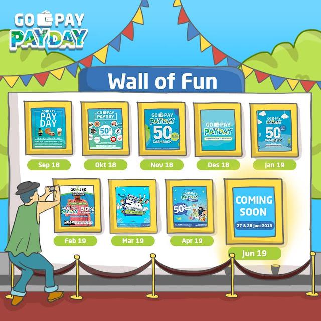 #GOPAY - #Promo Seru Jajan & Belanja Hemat di GOPAY PAY DAY Periode 27 - 28 Juni 2019