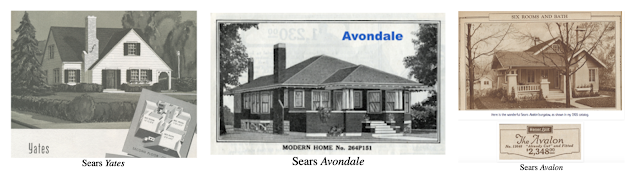catalog images of Sears Yates, Sears Avondale, Sears Avalon
